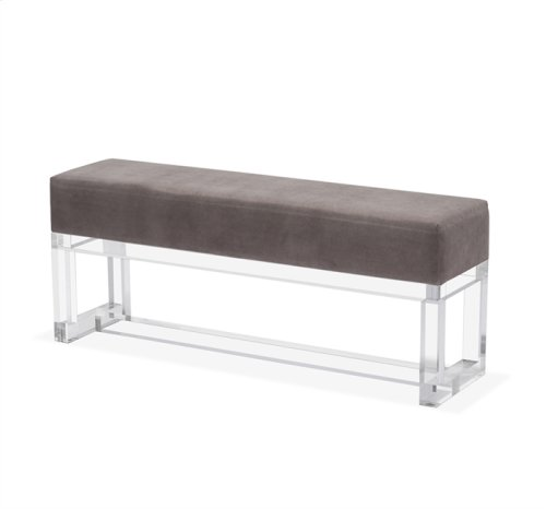 Avalon Bench - Grey Velvet