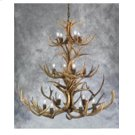 14 Light 3 Tier Mule Deer Chandelier Product Image