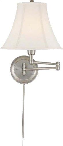 Swing Arm Wall Lamp - Ps/empire Fabric, E27 Cfl 25w/3-way