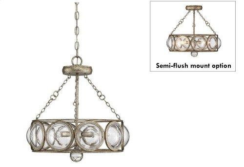 Warwick 3 Light Convertible Semi Flush