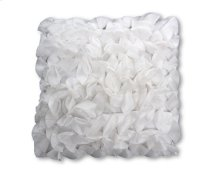 Petal White Feather Toss Cushion 18x18