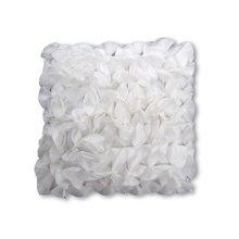Petal White Feather Toss Cushion 18x18