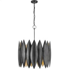 Visual Comfort S5048AI Barry Goralnick Hatton 4 Light 31 inch Aged Iron Pendant Ceiling Light, Barry Goralnick, Large