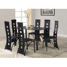 7 Pc. Black Contemporary Dining Set