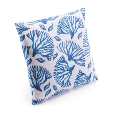 Blue Coral Pillow Blue & White Product Image