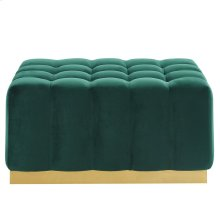 Magnum Rectangular Cocktail Ottoman in Green & Gold