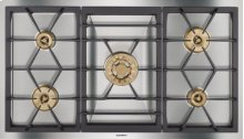 """Vario 400 Series Gas Cooktop Stainless Steel Width 36"""" (90 Cm) Natural Gas. for Conversion To Lp Gas, Lp Kit (part #423414) Must Be Ordered."""