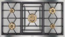 "Vario 400 Series Gas Cooktop Stainless Steel Width 36"" (90 Cm) Natural Gas."