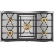 "Vario 400 Series Gas Cooktop Stainless Steel Width 36"" (90 Cm) Natural Gas. for Conversion To Lp Gas, Lp Kit (part #423414) Must Be Ordered."