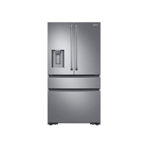 Samsung Appliances23 cu. ft. Counter Depth 4-Door French Door Refrigerator with Polygon Handles in Stainless Steel