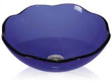 Glass Vessel Color Scalloped Round
