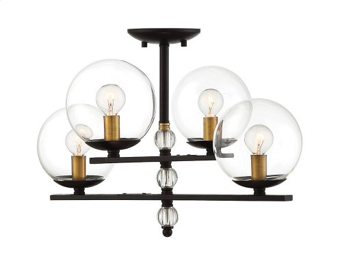 Granville 4 Light Semi Flush