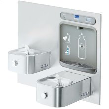 Elkay EZH2O Bottle Filling Station with Integral Soft Sides Fountain, Filtered Non-Refrigerated Stainless