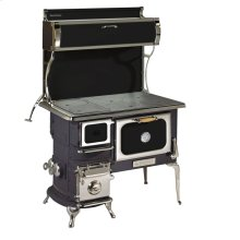 Black Oval Wood Cookstove without Water Reservoir