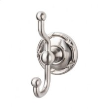 Edwardian Bath Double Hook Ribbon Backplate - Brushed Satin Nickel