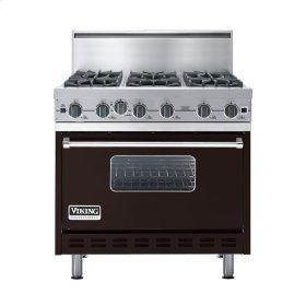 "Chocolate 36"" Open Burner Commercial Depth Range - VGRC (36"" wide, six burners)"