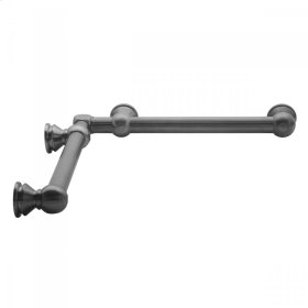 "Satin Nickel - G33 12"" x 24"" Inside Corner Grab Bar"