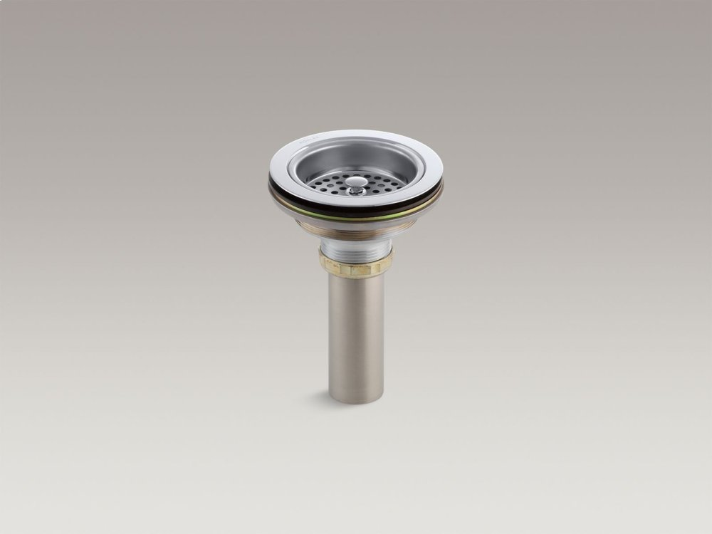 Polished Chrome Sink Drain and Strainer With