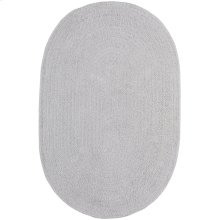 Lunar Grey Chenille Creations Oval