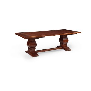 Franciscan Double Pedestal Table, Solid Top