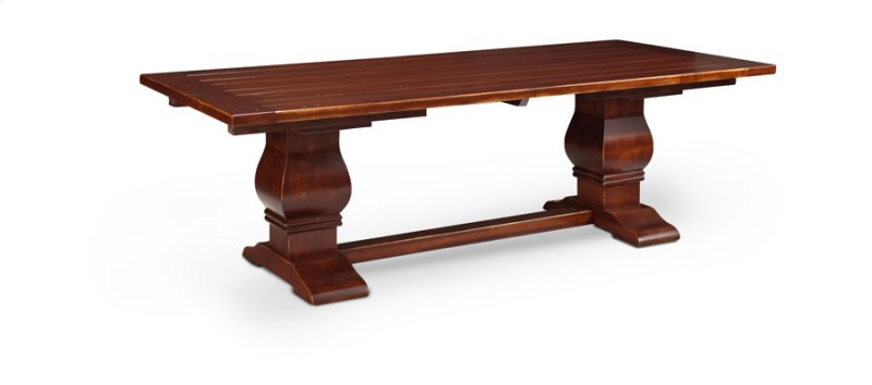 Franciscan Double Pedestal Table Solid Top