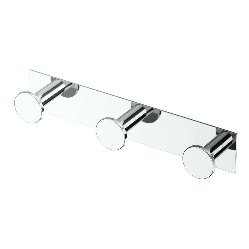All Modern Decor Triple Hook Square in Satin Nickel