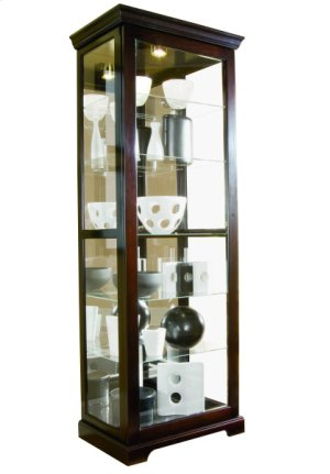 2-way Sliding Door Curio Choc Cherry II