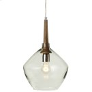 Long Neck Pendant with Round Glass. 40W Max. Plug-in with Hard Wire Kit Included. Product Image