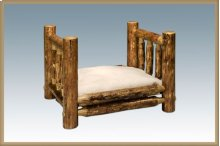 Glacier Country Log Small Pet Bed