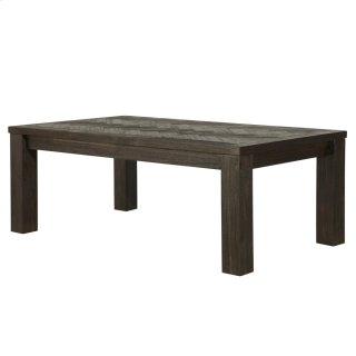Wellington KD Herringbone Coffee Table, Thames Dark Brown *NEW*
