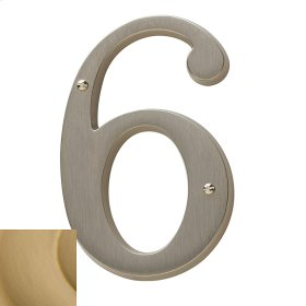 Vintage Brass House Number - 6