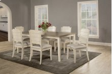 Clarion 7-piece Rectangle Dining Set With Side Chairs - Sea White