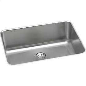 """Elkay Lustertone Classic Stainless Steel 26-1/2"""" x 18-1/2"""" x 10"""", Single Bowl Undermount Sink with Perfect Drain"""