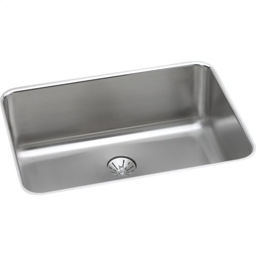 "Elkay Lustertone Classic Stainless Steel 26-1/2"" x 18-1/2"" x 10"", Single Bowl Undermount Sink with Perfect Drain"