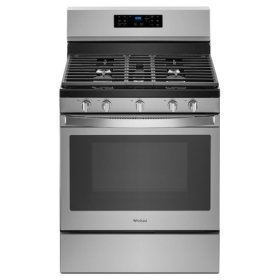 Whirlpool® 5.0 cu. ft. Freestanding Gas Range with Fan Convection Cooking - Fingerprint Resistant Stainless Steel