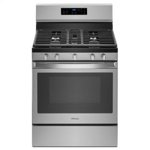 Whirlpool® 5.0 cu. ft. Freestanding Gas Range with Fan Convection Cooking - Fingerprint Resistant Stainless Steel Product Image