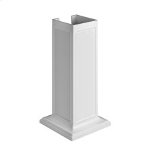 Set of pedestal sink legs in Cristalplant® (matt white) for installation 48811, 48813 or 48815