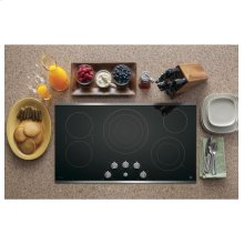 "GE Profile 36"" Electric Cooktop with Built-in Knob Control"