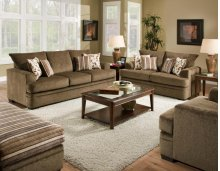 Cornell Cocoa Sofa and Loveseat