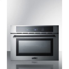 """24"""" Wide Built-in Speed Oven With Convection, Microwave, and Standard Oven Settings In A Stainless Steel and Glass Finish"""