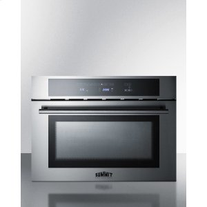 "Summit24"" Wide Built-in Speed Oven With Convection, Microwave, and Standard Oven Settings In A Stainless Steel and Glass Finish"