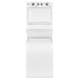 WhirlpoolWhirlpool® 3.5 cu.ft Long Vent Electric Stacked Laundry Center 9 Wash cycles and AutoDry™ - White