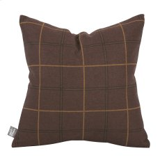 "16"" x 16"" Pillow Oxford Chocolate Product Image"