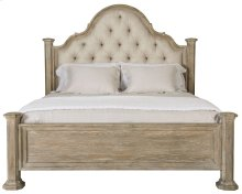 Queen-Sized Campania Upholstered Panel Bed in Weathered Sand (370)