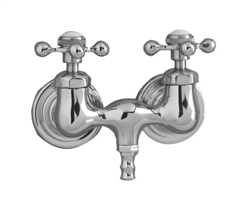 Clawfoot Tub Filler - Metal Cross Handles - Polished Chrome
