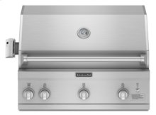 """36"""" Width 83K Total BTUs 623 sq. in. Primary Cooking Area(Stainless Steel)"""