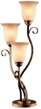 3 Lites Table Lamp - Aged Bronze/glass Shade, Type A 40wx3 Product Image