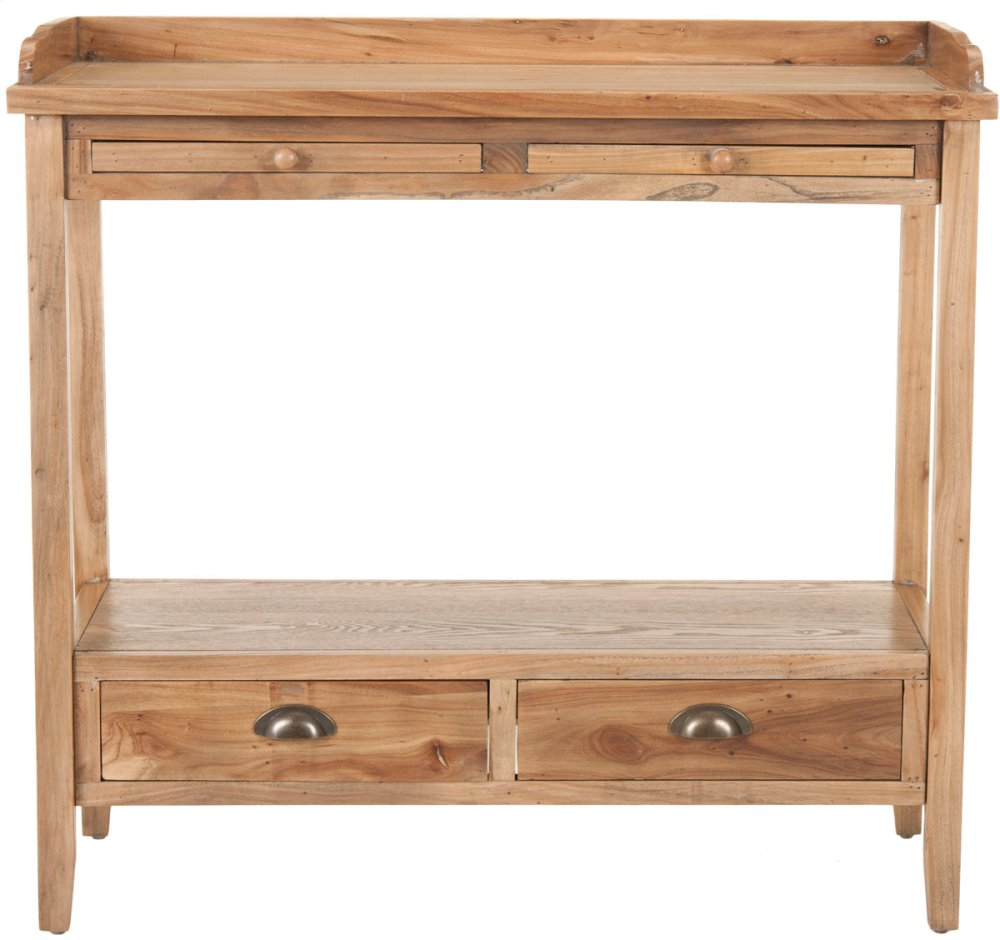 Peter Console With Storage Drawers - Oak