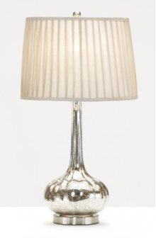 Round Long Neck Glass Base Lamp