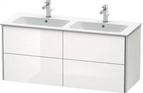 Vanity Unit Wall-mounted, White High Gloss (decor)
